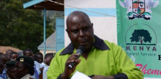 The Executive member in the Ministry of Agriculture Nixon Amendi