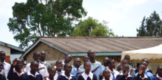 Kapsabet School for the Deaf pupils during the ceremony