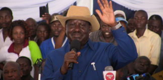 Fomer Prime Minister Raila Odinga. FILE PHOTO
