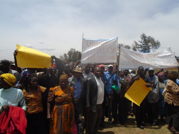 Lugari, Likuyani, and Turbo IDPs during a past protest