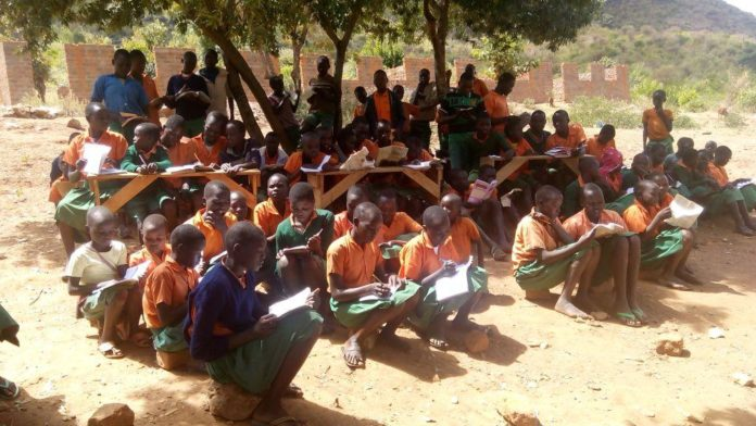 Pupils of Sukuk primary school in Pokot South Sub County