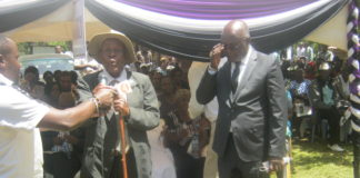 Mzee William Masafu eulogizing the late Trutea Naliaka Wanyonyi