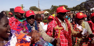 West Pokot Jubilee leaders led by Governor Simon Kachapin
