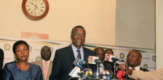 Chief Justice David Maraga addressing the press on the Judiciary's Pre-Election Dispute Resolution preparedness