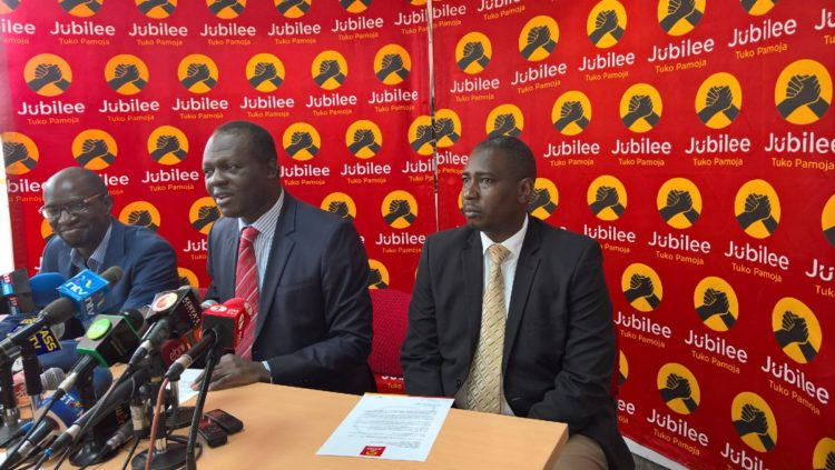 Jubilee Party leadership will organize the rescheduled party primaries