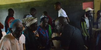 Voting going on in one of the wards in Vihiga County during ANC Primaries last week