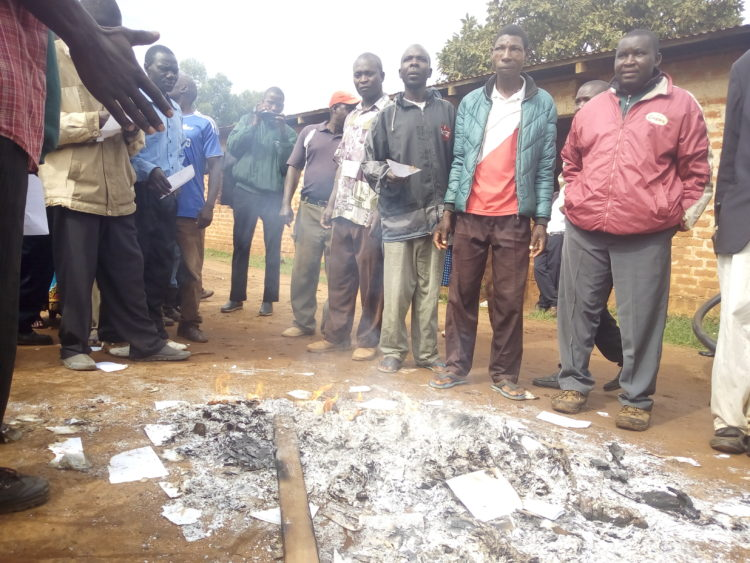 Ballot boxes and papers have been burnt during FORD-Kenya polls in Trans Nzoia