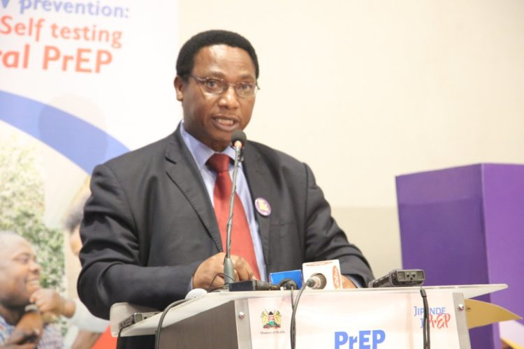 Director of Medical Services Jackson Kioko during the launch of the HIV prevention drug, PrEP