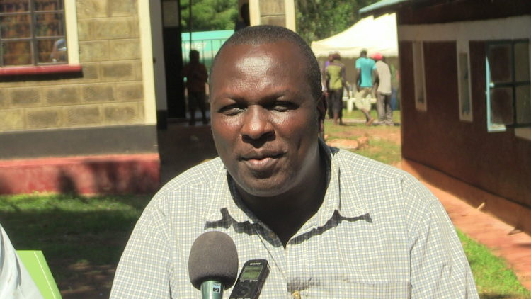 Maurice Nyongesa Khaemba, the son to the deceased, speaking to West Media