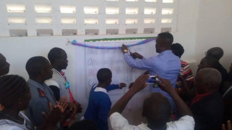 Webuye West MP Dan Wanyama during the opening of a newly constructed building at Webuye SA Primary School