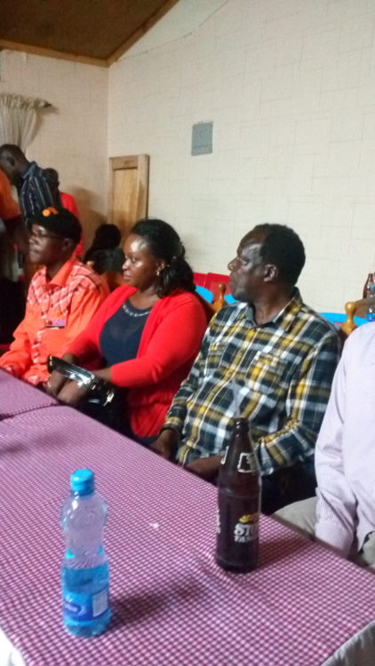 ODM leaders led by deputy party leader Wycliffe Oparanya (second right) at the briefing in Webuye
