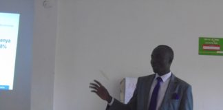 Lugari sub county Medical Officer of Health Dr. Mike Ekisa addressing a stakeholders meeting held at Homelady Guest house
