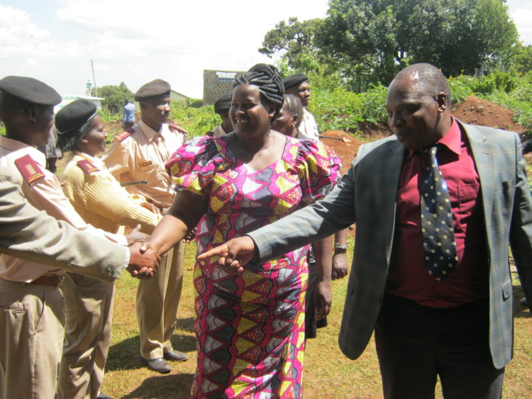 Labour PS Dr. Khadijah Kassachoon with Mt Elgon DCC David Kosgey