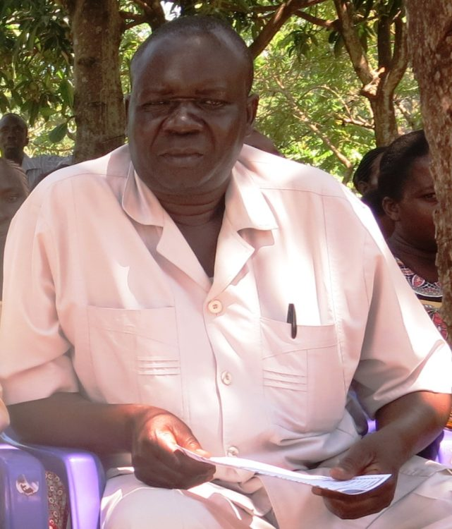 Kakapel location chief Vincent Etyang