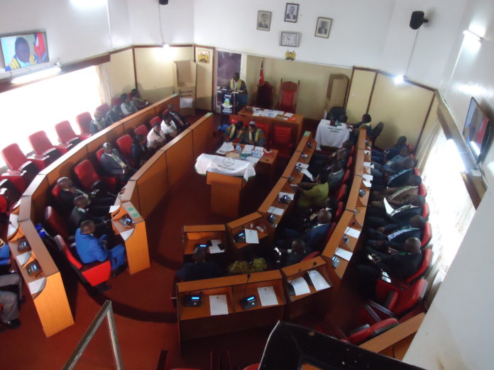 Nandi MCAs during a past session in the County assembly