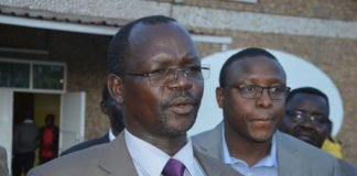 West Pokot Governor John Lonyangapuo
