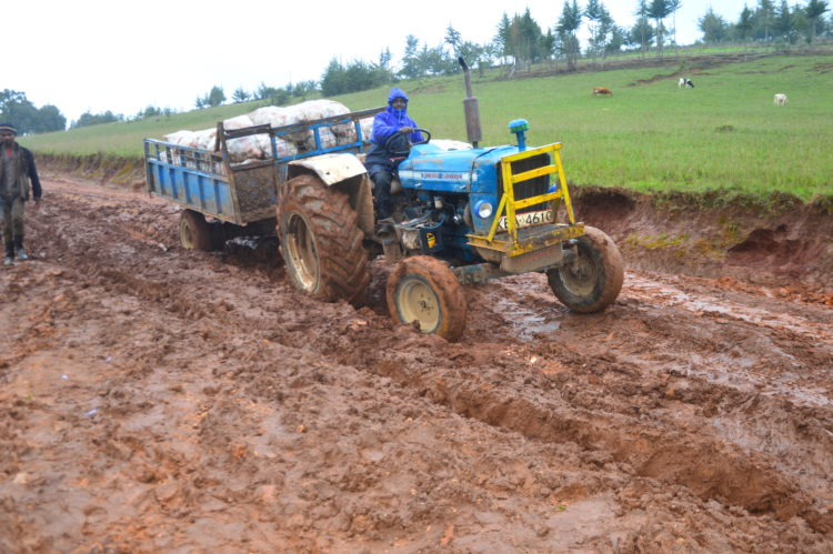 The poor state of the road in Lelan Ward in West Pokot County has affected agricultural business