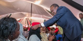 President Uhuru Kenyatta during the meeting with women supporters at State House, Nairobi