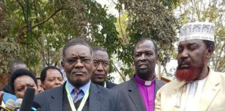 NCCK General Secretary Canon Peter Karanja (centre) has affirmed the Council's position when it comes to dealing with divisions in leadership and the country