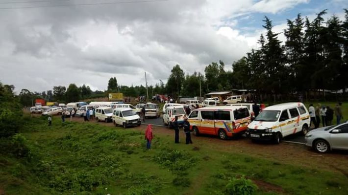 Matatu operators protested the high tax remittance by the County government