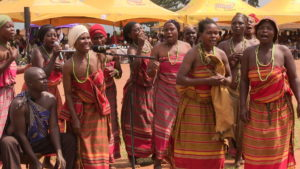Bamasaaba women performing a Traditional song