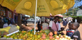 A trader at Mbale Market in Vihiga County