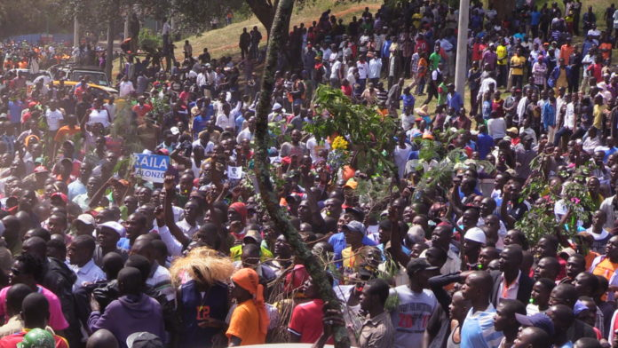 NASA supporters at Uhuru Park