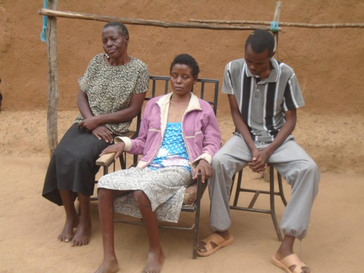 Mrs. Joyce Owenga (left) with her children when they spoke to West Media