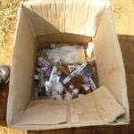 Some of the items picked by the Kipkaren residents