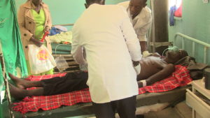 Cholera patient being treated at Kitale Referral Hospital