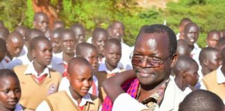 West Pokot Governor John Lonyangapuo at the function