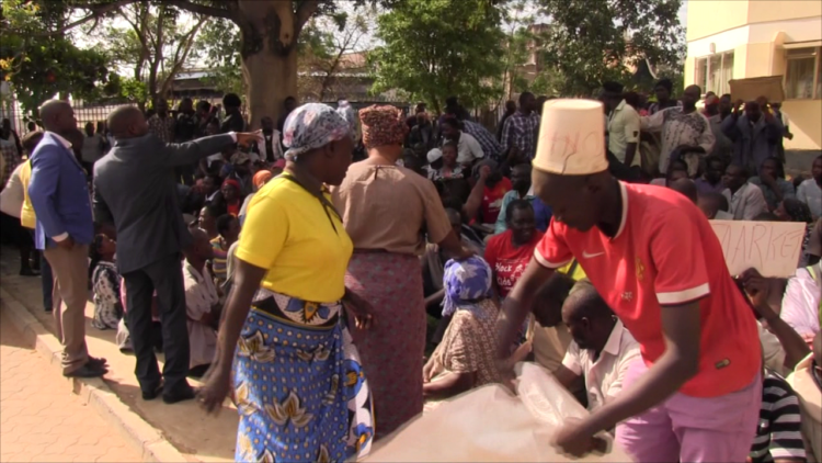 Traders at Chebukube market in Bungoma