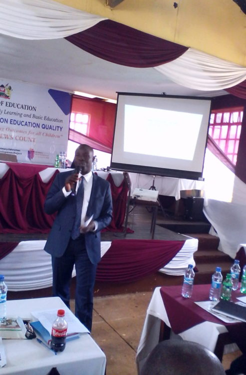 Nandi Governor addressing stakeholders at the National Dialogue on Education Quality Forum in Nandi