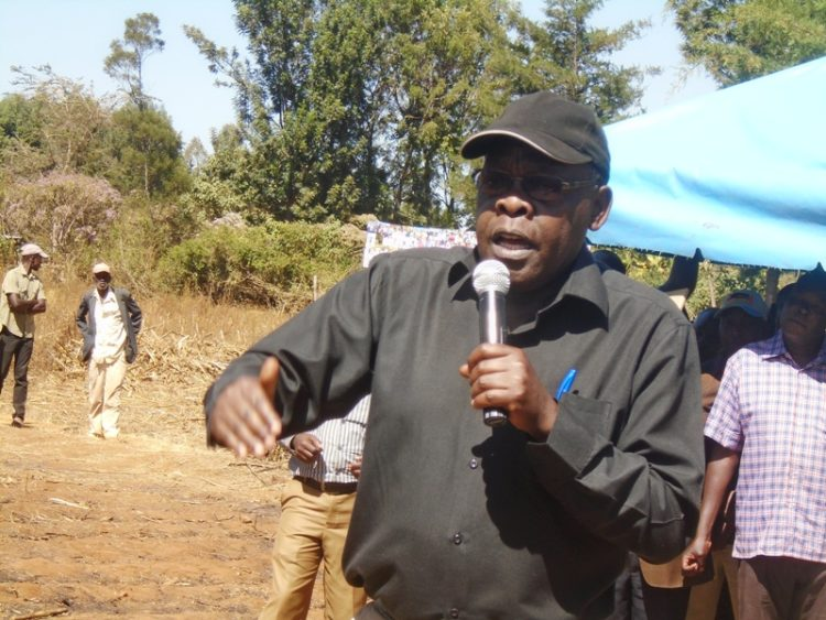 Likuyani MP Dr. Enoch Kibunguchy addressing residents in his Constituency