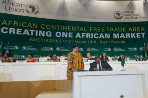 President Uhuru Kenyatta joined other African Heads of State in signing the African Continental Free Trade Area deal