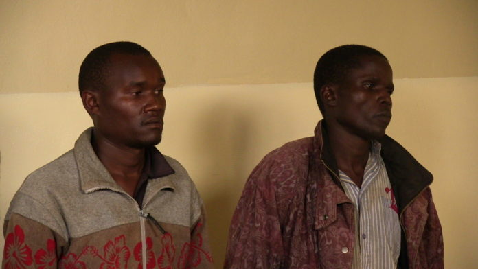 The two suspects Alex Juma and Cleophas Sichei