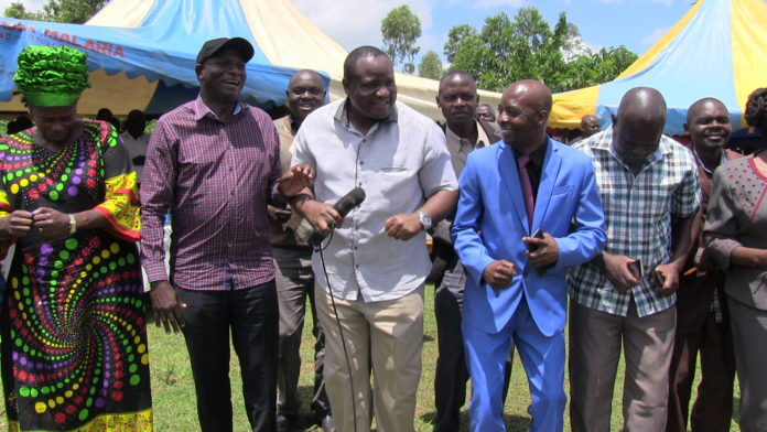 Energy CS Charles Keter (second left) in Bungoma County