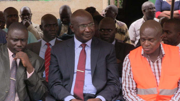 Bungoma Governor Wycliffe Wangamati with Roads CEC Collins Mukhongo