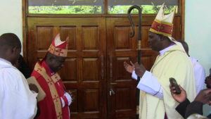 ACK Archbishop Ole Sapit (right) said the cathedral should be situated where the Bishop resides and thus had to be moved to Bungoma from Webuye
