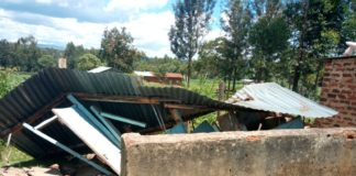 500 girls have been affected in Savula primary and secondary schools after the latrines collapsed