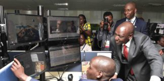 Deputy President William Ruto during the launch of the Microsoft Testing centre at Techno Brain