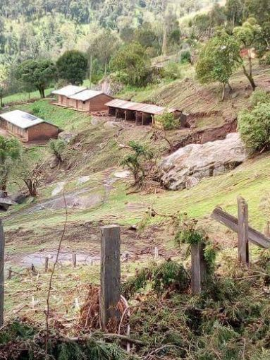 Families were displaced following the landslide