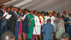 Many leaders were present at the national prayer breakfast at Safari Park in Nairobi