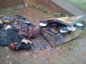 Property valued over Kshs 400,000 was destroyed by the fire