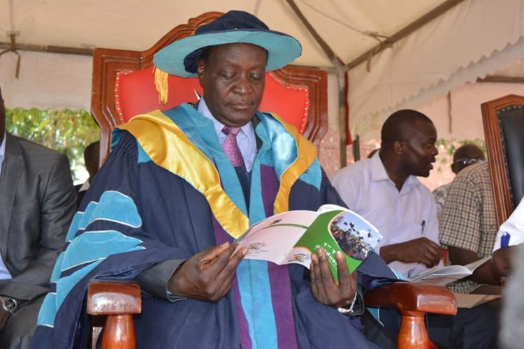 Governor Wilber Ottichilo during the graduation of TVET students at Vihiga Municipal Grounds in  Mbale