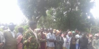 Likuyani chief Charles Banda addressing residents