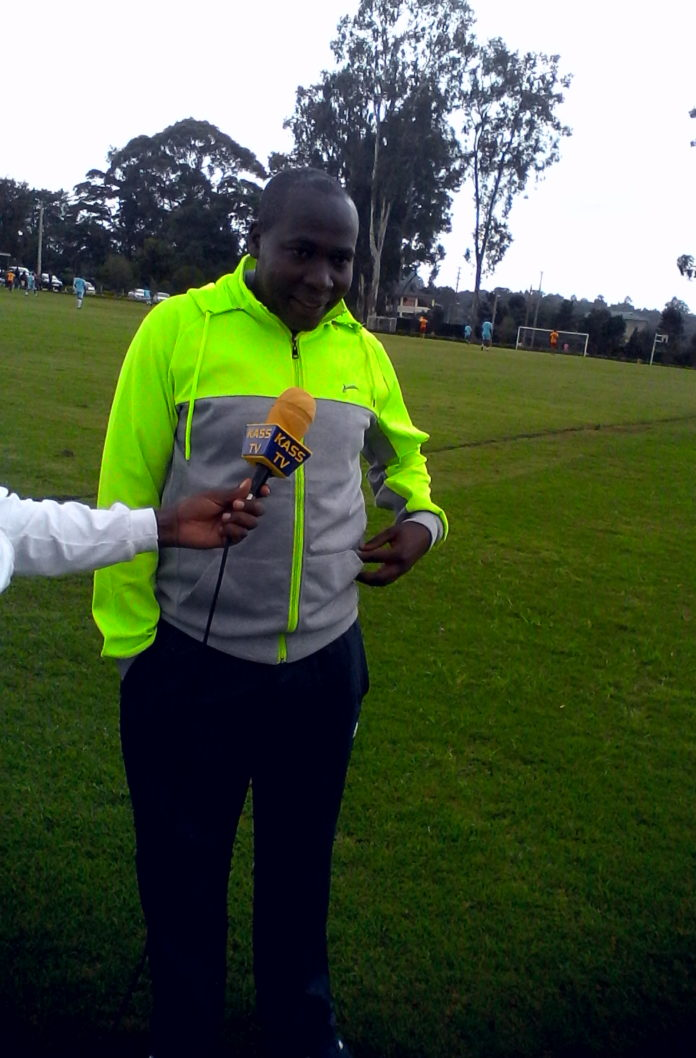 Nandi Sports CEC Elly Kurgat at Kapsabet boys high school during the friendly match