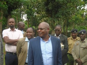 Livestock PS Harry Kimutai when he visited dairy farmers in Lugari