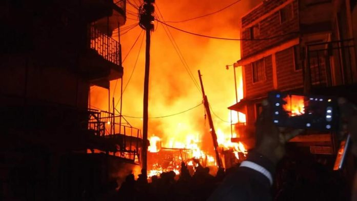 The cause of the Gikomba fire is yet to be established