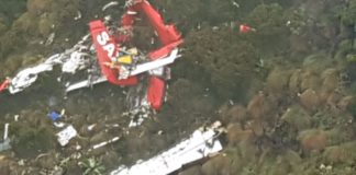 The wreckage of the missing plane was located in Aberdares on Thursady morning and the bodies were moved to Lee Funeral Home later that evening